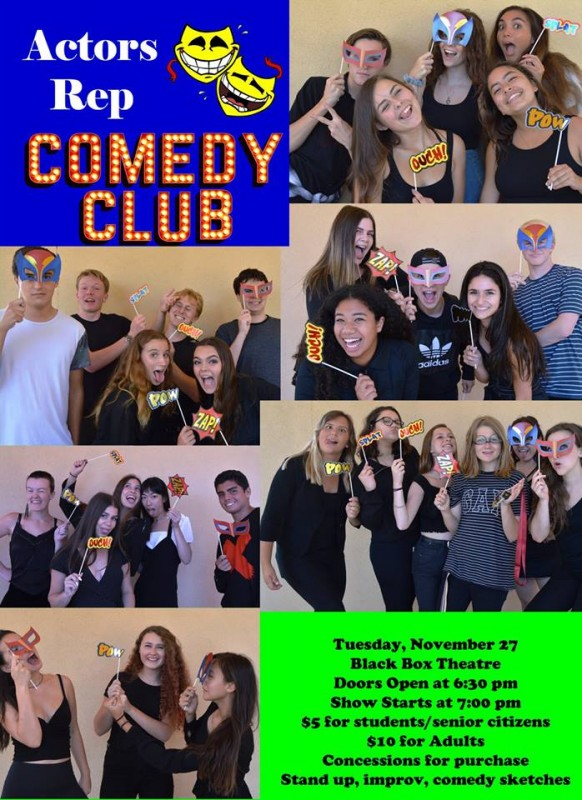 "Acting's ""Comedy Club"" is November 27th!"