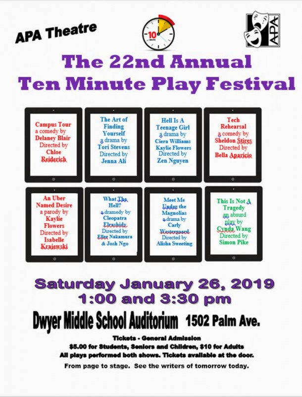 Acting's Ten Minute Play Festival!