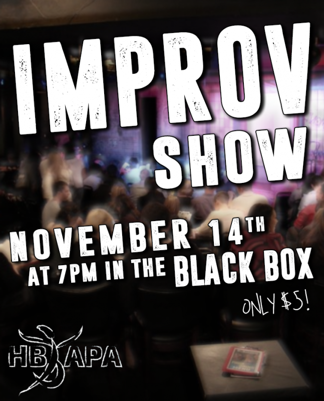 APA's Improv Show is November 14th!