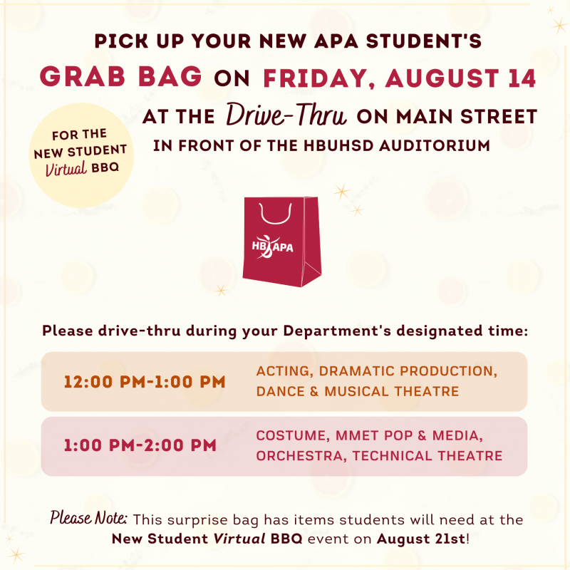 Grab Bags for the New Student (Virtual) BBQ