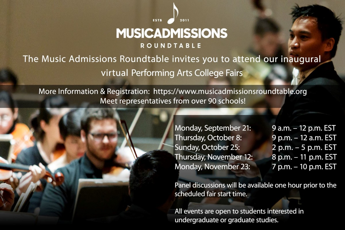 VIRTUAL EVENT FOR SENIORS: National Performing Arts College Fairs