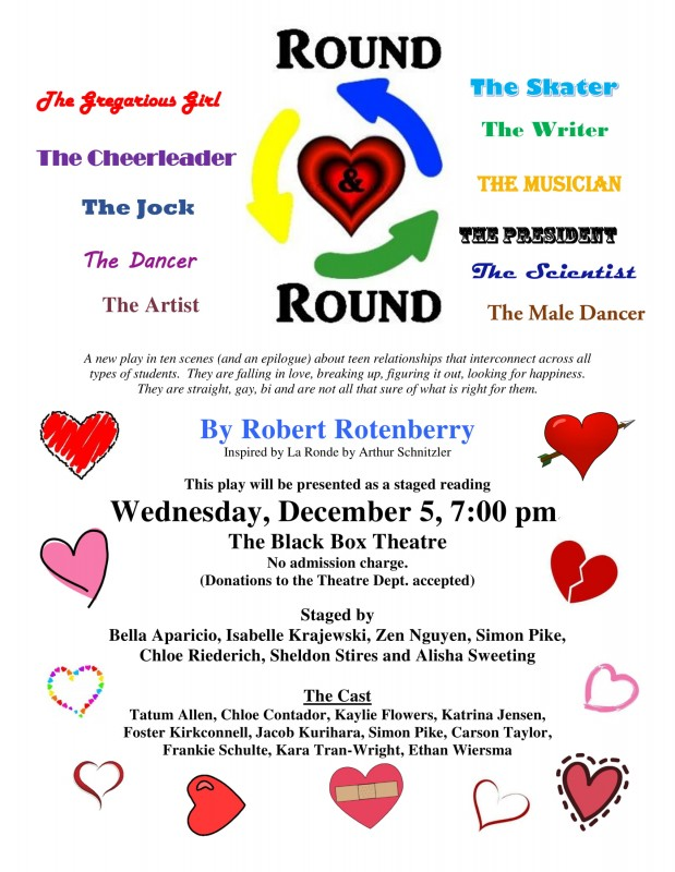 """Round and Round""—a play by Mr. Rotenberry—to debut December 5th!"