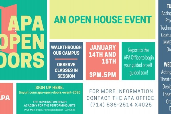 APA OPEN DOORS: A 2020 OPEN HOUSE EVENT