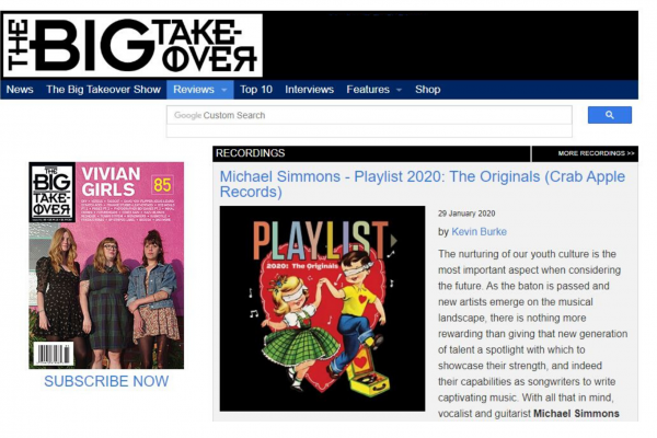 "MMET STUDENTS' ALBUM OF ORIGINAL MUSIC FEATURED IN ""THE BIG TAKEOVER"" MAGAZINE"