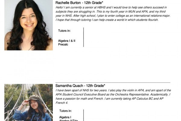 APA STUDENTS NAMED AS FEATURED TUTORS