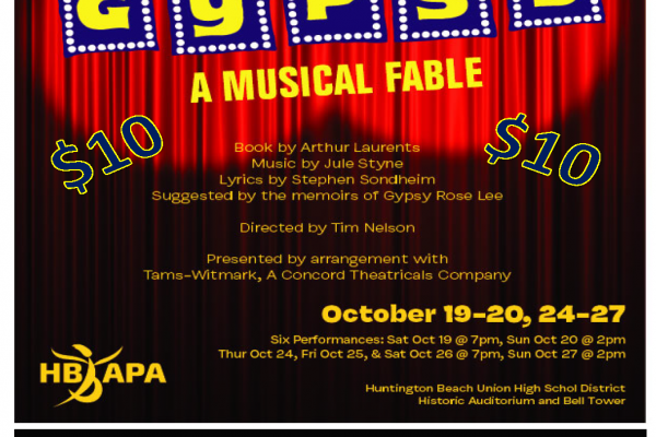 Special $10 student ticket price for GYPSY!