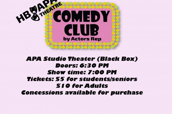 Upcoming APA Theatre Shows - Comedy Club & Story Time