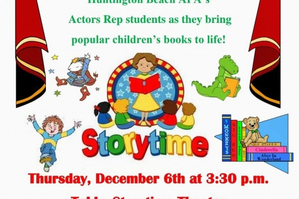 "APA's Acting presents ""Storytime"" on Thursday, December 6th"