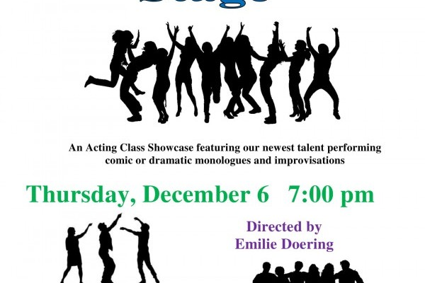 """Taking the Stage"" with APA's Acting Department on December 6th"