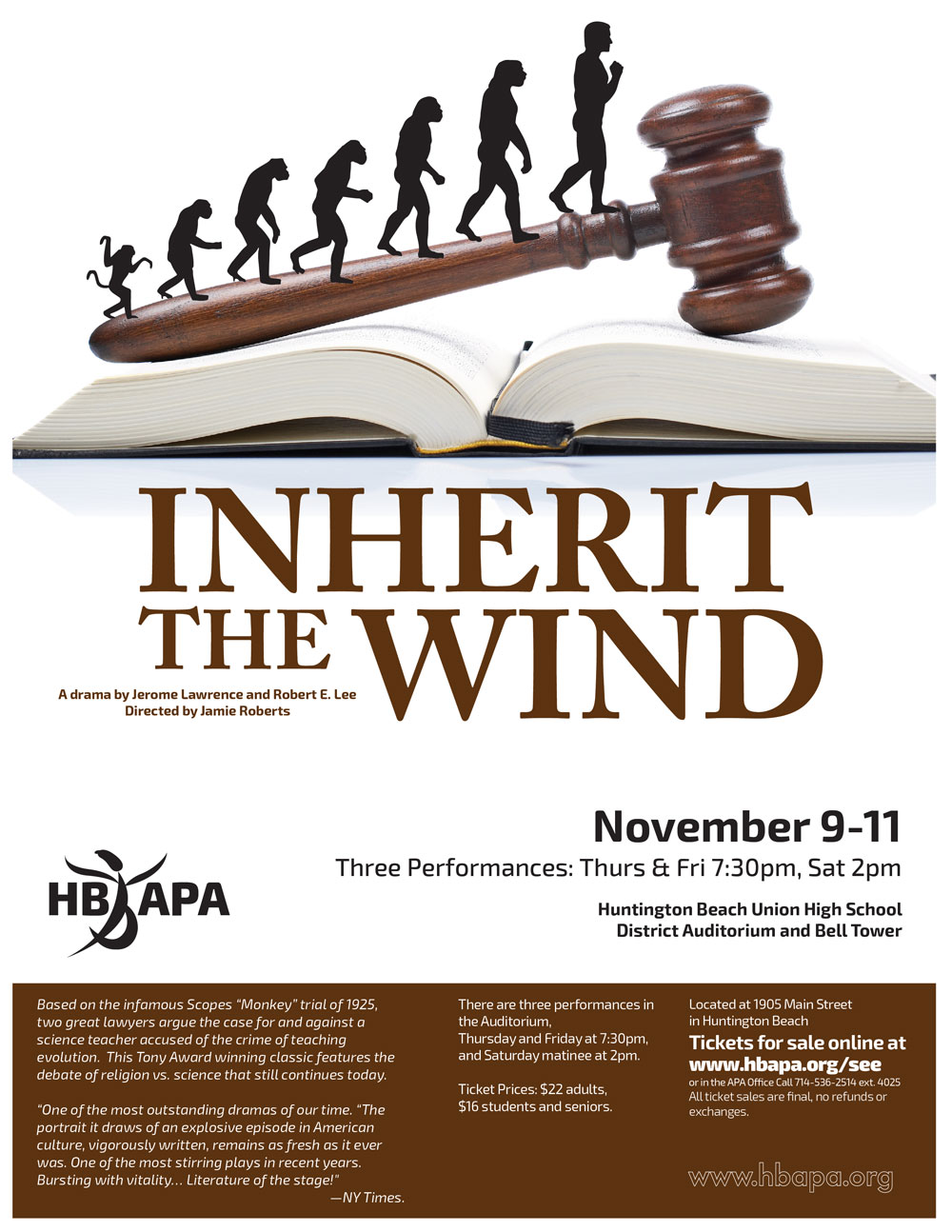 a literary analysis of inherit the wind by jerome lawrence
